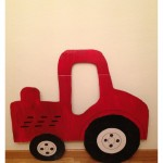 tractor cartón