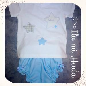 Camiseta estrellas azul