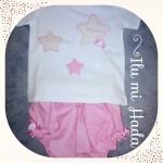Camiseta estrellas rosa