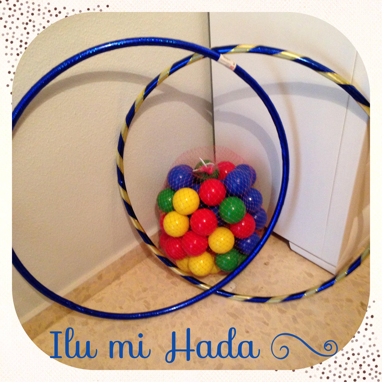 6. aros domador y bolas colores