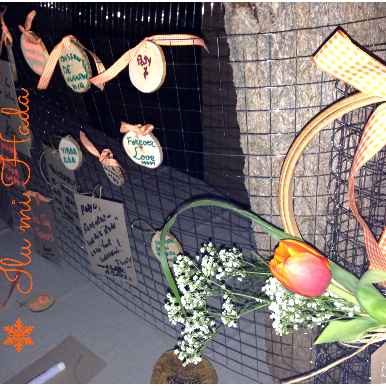 20. Rejilla y flores mesa mensjitos