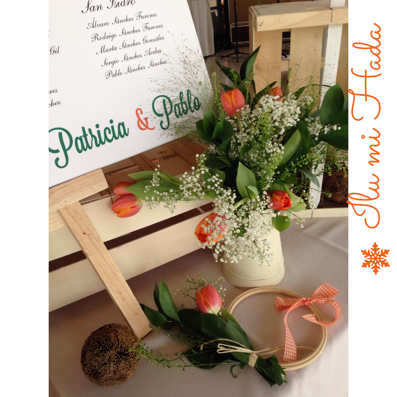 3. Detalle jarrón y flores protocolo de mesas