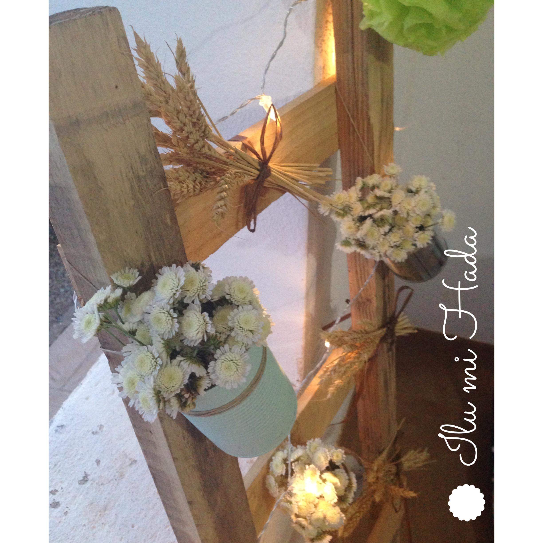9. Flores con luces