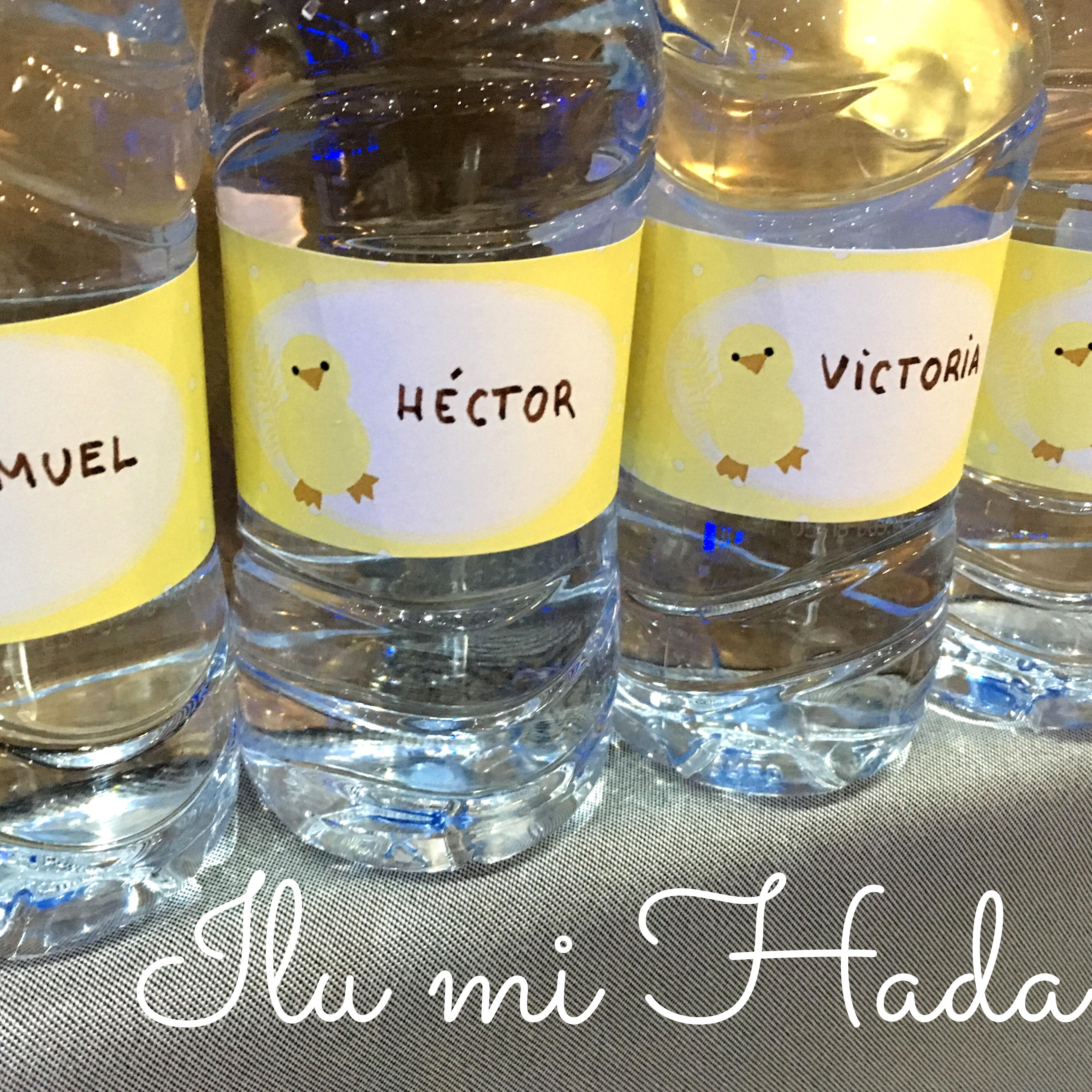 14. Botellas de agu