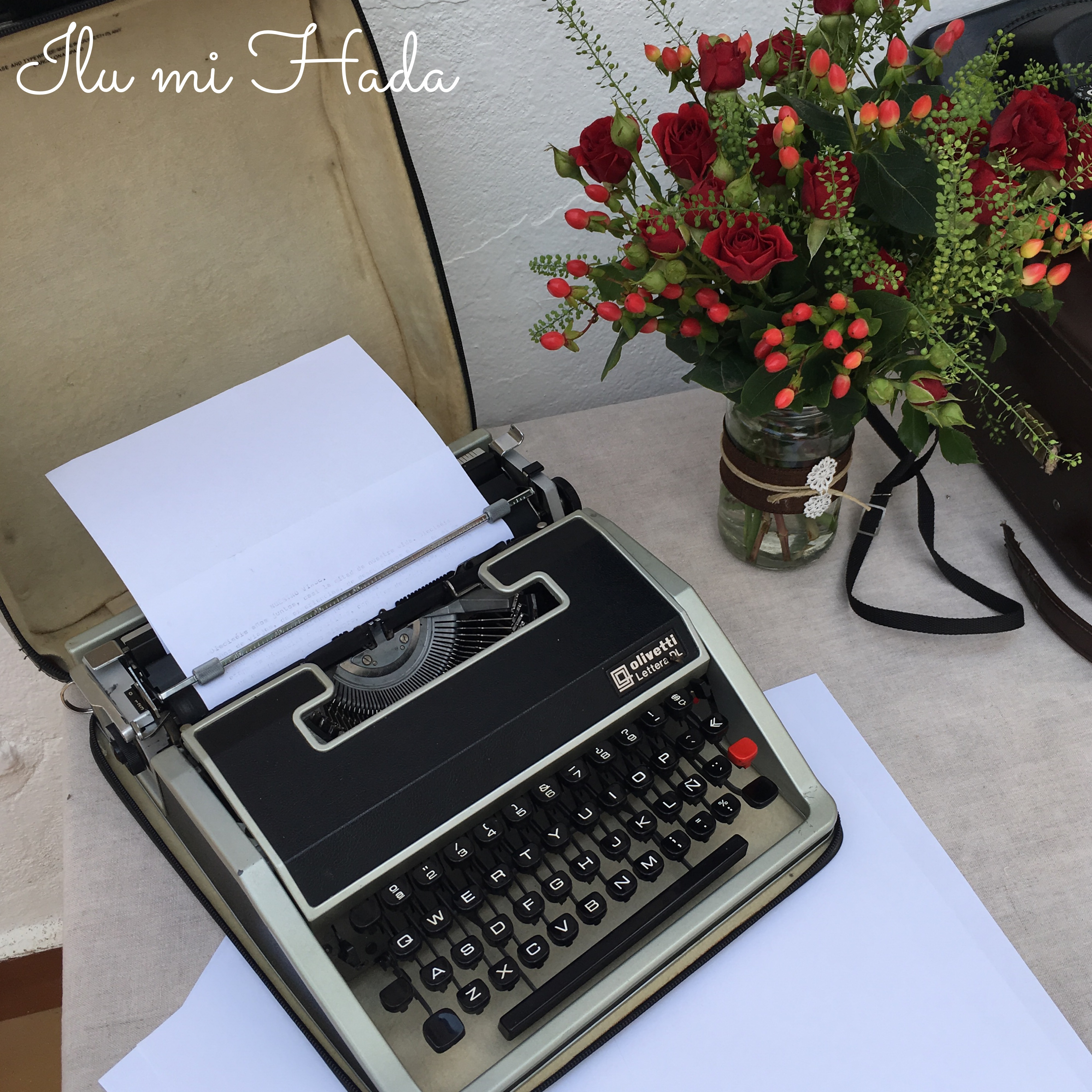 10. Detalle máaquina de escribir mesa dulce