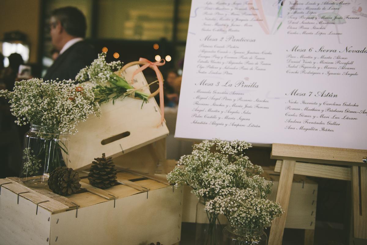 3. Detalle flores y cajas del seating plan