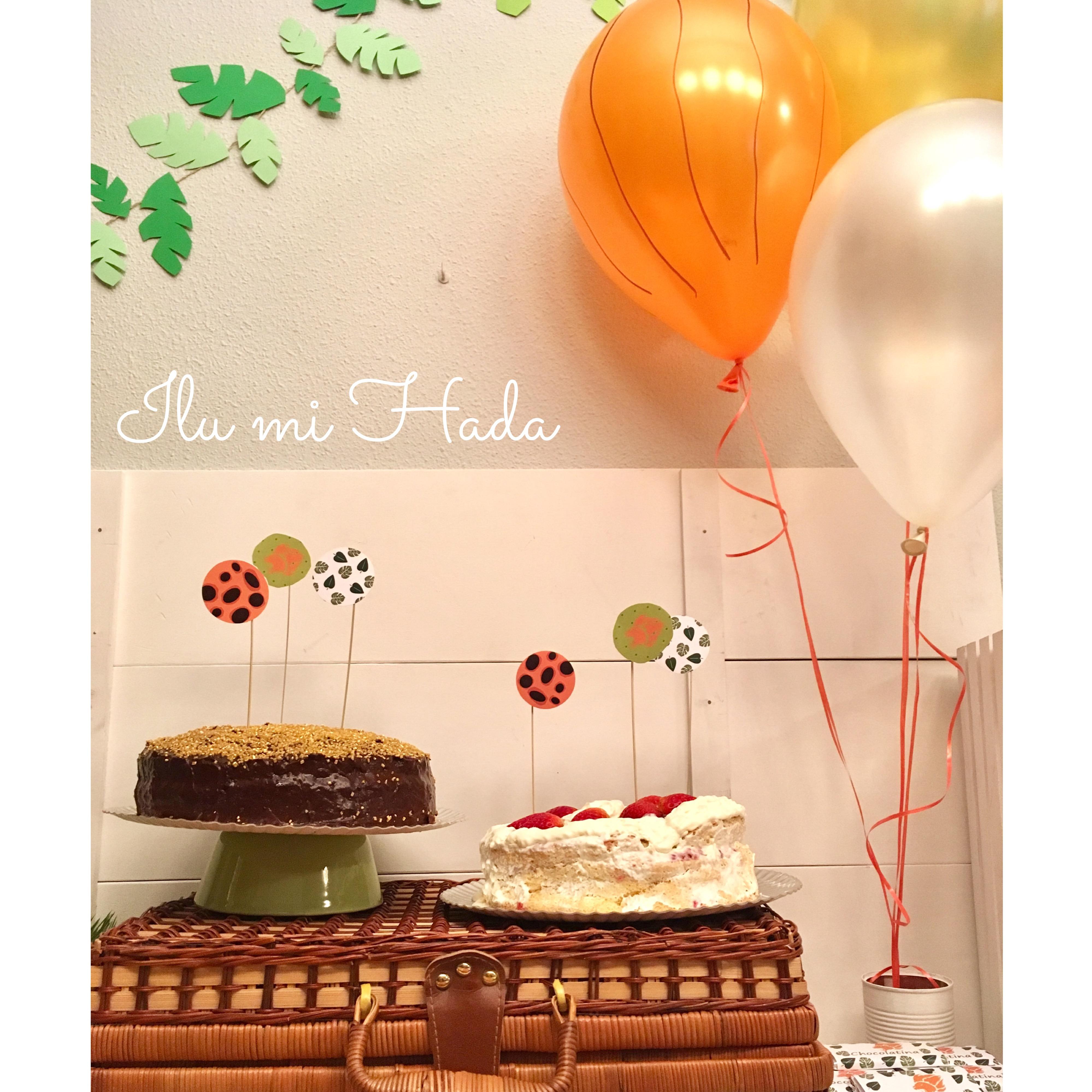 13. Tarta y globos
