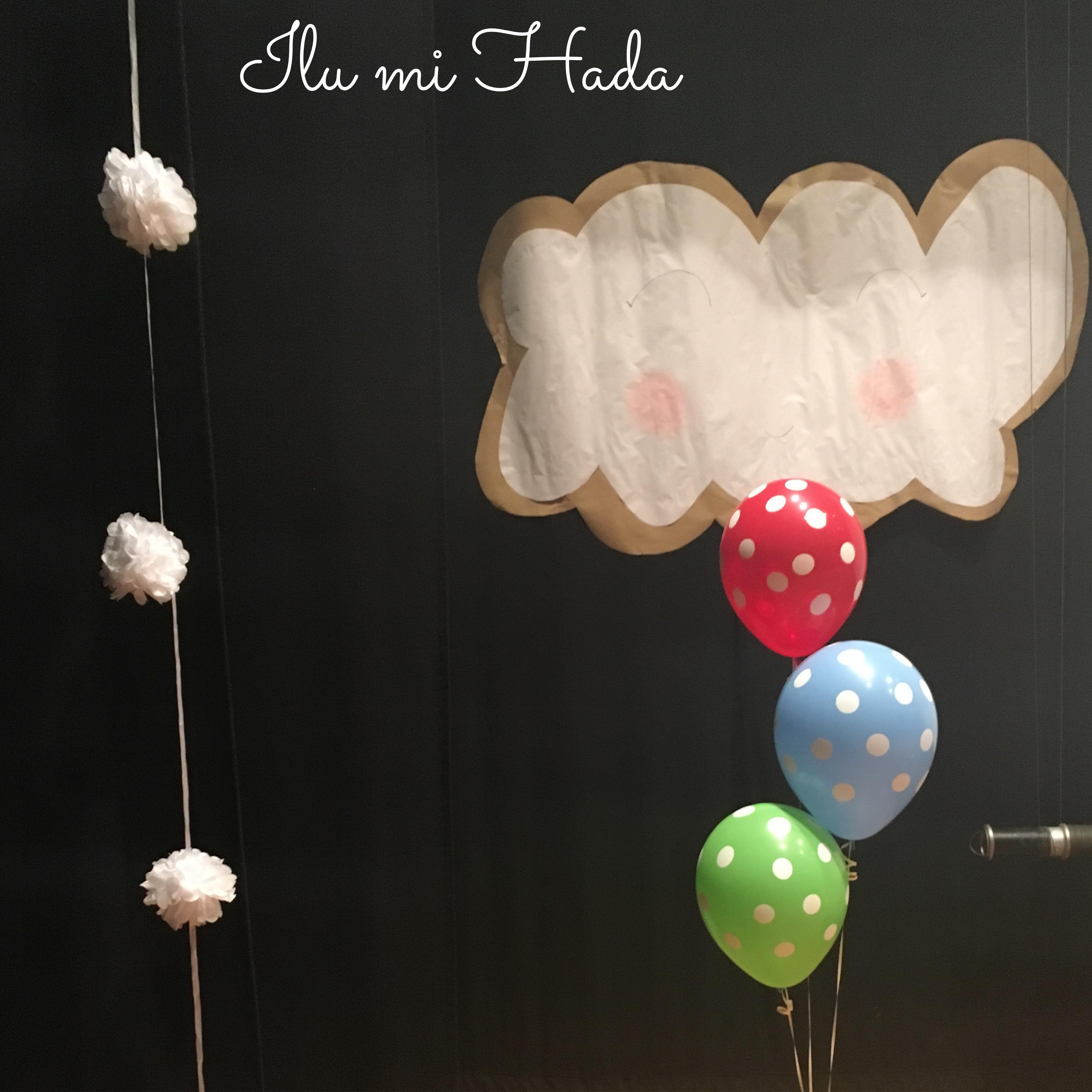 2. Nubes, globos y pompones